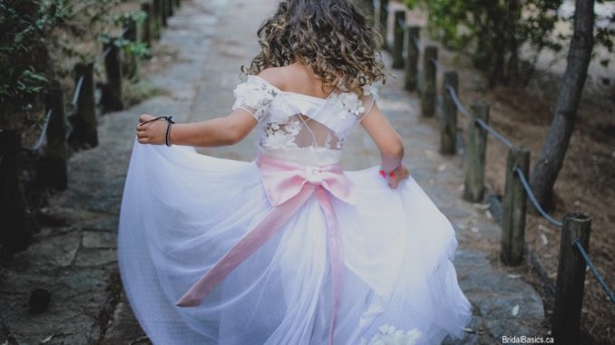 Flower Girl with Pink Bow